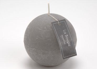 Bougie sphère grise