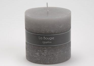 Bougie cylindre gris (Gros Modèle)