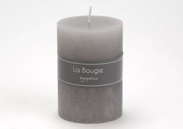 Bougie cylindre gris (Petit Modèle)