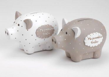 """""""Ma première tirelire cochon""""  blanche"""
