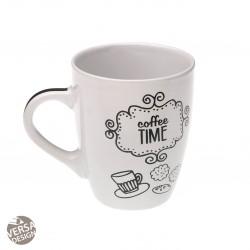 """Mug """"Coffee Time"""" blanche"""
