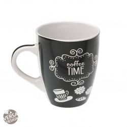 """Mug """"Coffee Time"""" noire"""