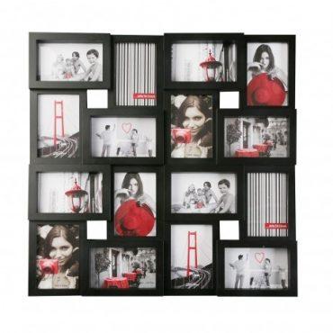 Cadre photo noir – 16 fenêtres