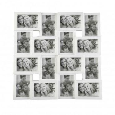 Cadre photo blanc – 16 fenêtres