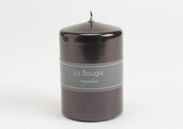 Bougie cylindre noir scintillant (Petit Modèle)
