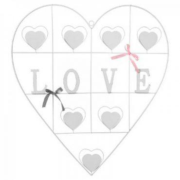 "Porte photo blanc ""Coeur"""