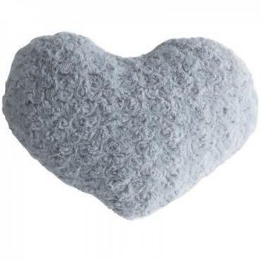 Coussin coeur gris