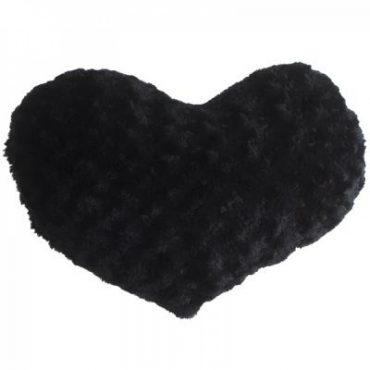 Coussin coeur noir