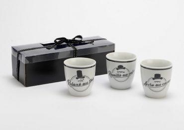 "Coffret de 3 mugs ""Monsieur"""