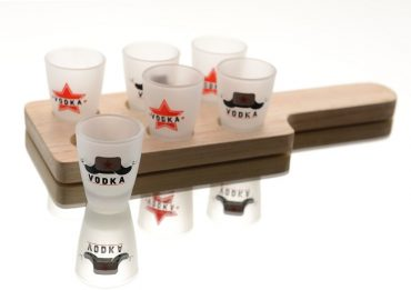 "Planche de 6 Shooters ""Vodka"""