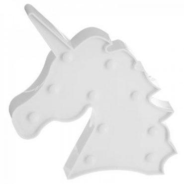 Lampe Licorne blanche avec led