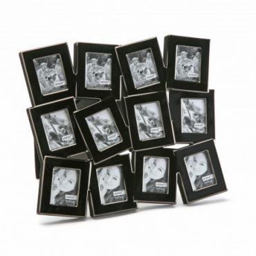 Cadre photo métal noir -12 fenêtres