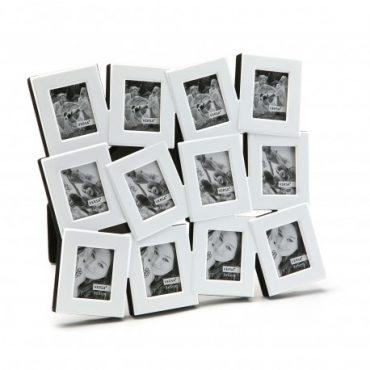 Cadre photo métal blanc – 12 fenêtres