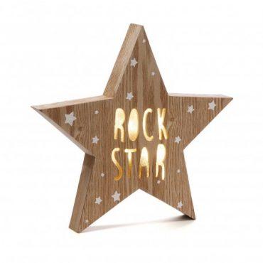 """Boite à lumière led etoile """"Rock Star"""""""