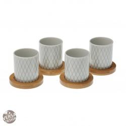 """Set de 4 tasses à café """"Diamant Tropical"""""""
