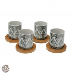 "Set de 4 tasses à café ""Maoris Tropical"""