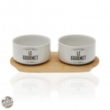 """Plat à apéritifs – 2 bols """"Gourmet"""""""