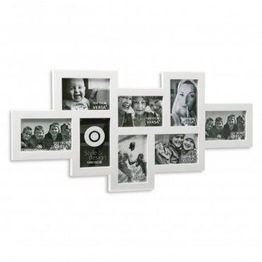 Cadre photo blanc – 8 fenêtres