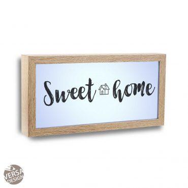 """Cadre d'image lumière """"Sweet Home"""""""