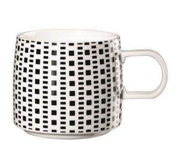 """Mug  """"Carrés"""" noir & blanc"""