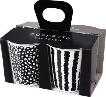 """Coffret de 4 gobelets à café décorés """"Copetta"""""""