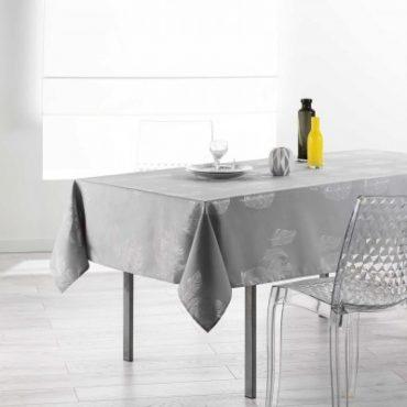 """Nappe rectangulaire """"Plume"""", grise, 150 x 240 cm"""