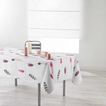 "Nappe rectangulaire ""Plume"", 150 x 240 cm"