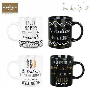 """lot de 4 mugs """"Dites le avec des mots …"""""""