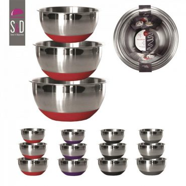 Lot de 3 bols de cuisine – Rouge
