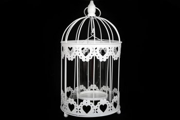 Photophore Cage Blanche
