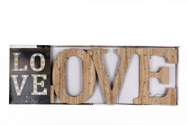 """Lettres décoratives bois led """"Love"""""""