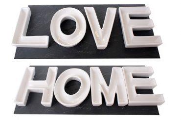"""Coffret de 4 coupelles à apéritifs lettres """"Love"""""""