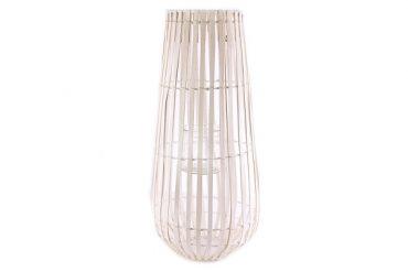 Grande lanterne blanche bois blanc