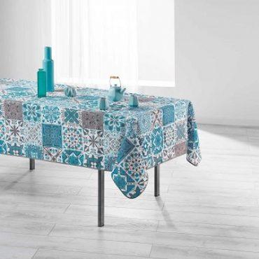 """Nappe rectangulaire """"Persane"""" bleue 150 x 200 cm"""