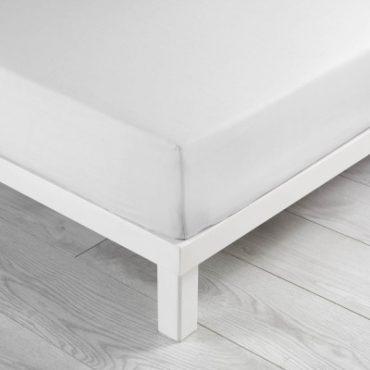 Drap housse pour lit 2 personnes en coton blanc, 140...