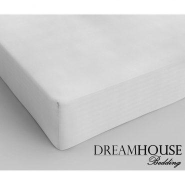 Drap housse pour lit 2 personnes en coton blanc, 160...
