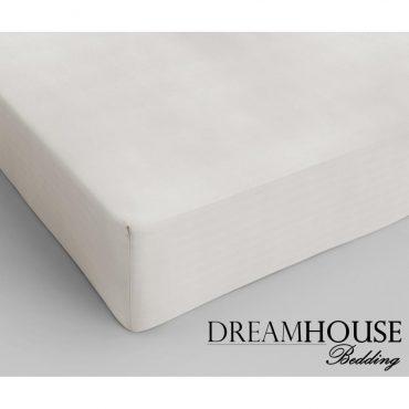 Drap housse pour lit 2 personnes en coton crème, 160...